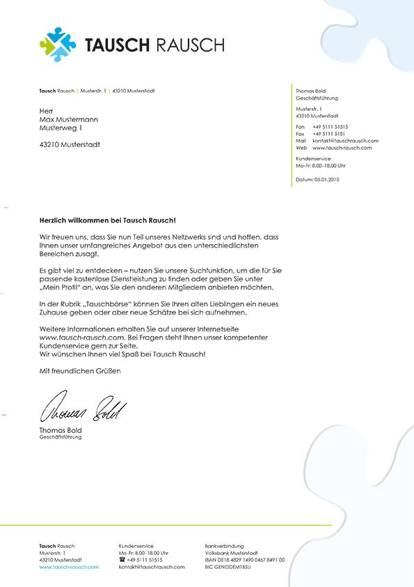 Portfolio Briefbogen Tausch Rausch